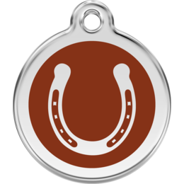 Horse Tag Round with Horse Shoe