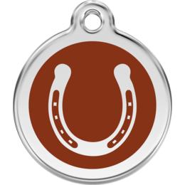 Pferdemarke rund mit Hufeisen