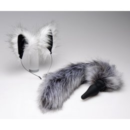 Ears and Tail Set Grey