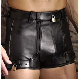 Leather Chastity Shorts *SINGLE ITEM*