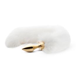 Analplug mit weißem Fuchsschwanz