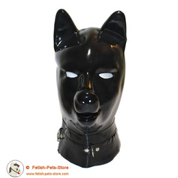 Latex Dog Hood with Collar