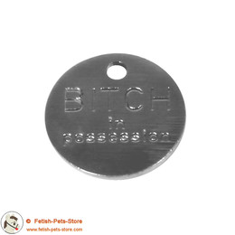 Dog Tag Round Stainless Steel (mechanical engraving)