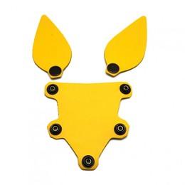 Hundemaske Zunge und Ohren Gelb
