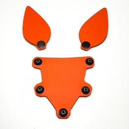 Hundemaske Zunge und Ohren Orange