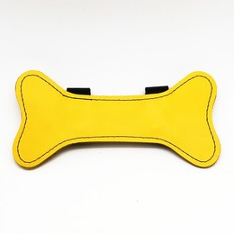 Puppy Leather Bone Yellow