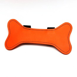 Puppy Leder Knochen orange