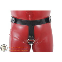 Belt with Cock Ring for Inflatable Plugs