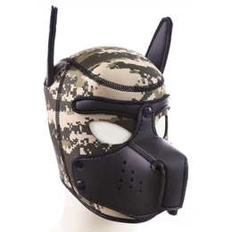 Puppy Neoprene Muzzle Army