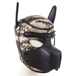 Puppy Neoprene Muzzle Army
